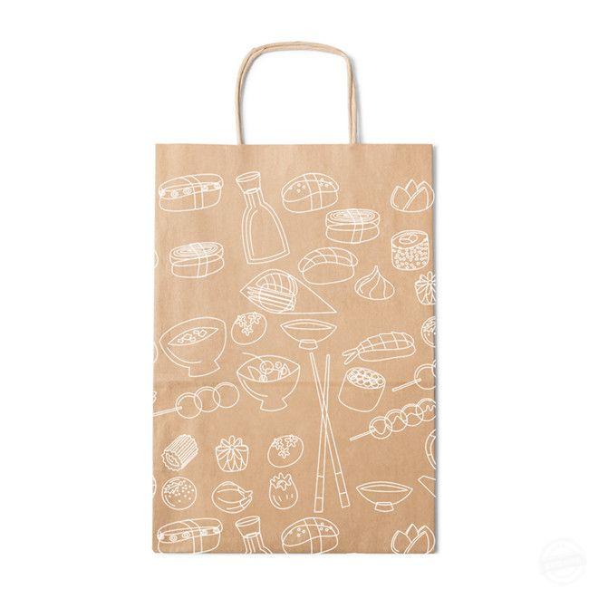 包装嗲  花纹手提袋