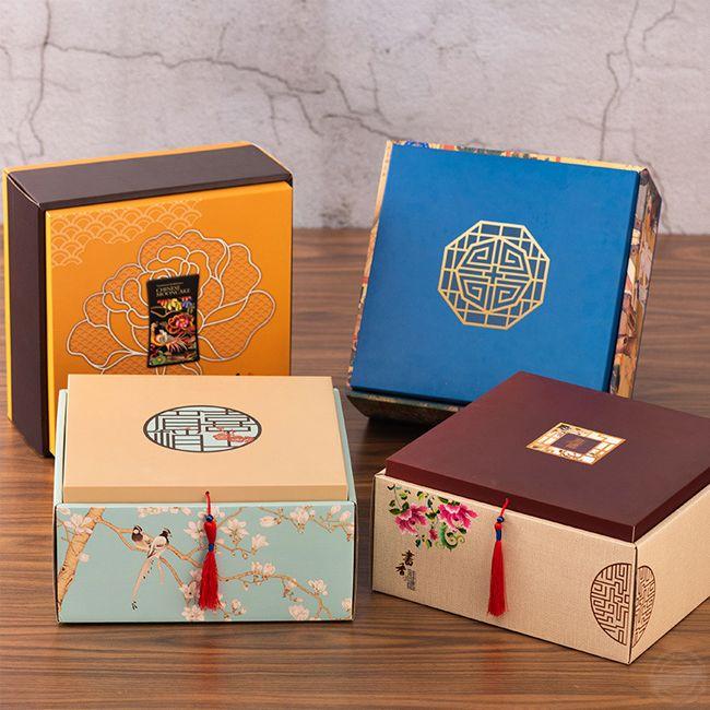 月饼包装礼盒  精美的月饼包装礼盒是怎么设计的呢? [吉彩四方]包装盒设计印刷一站式厂家