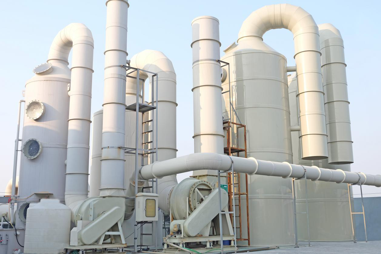 江苏酸碱废气处理工程设备安装中