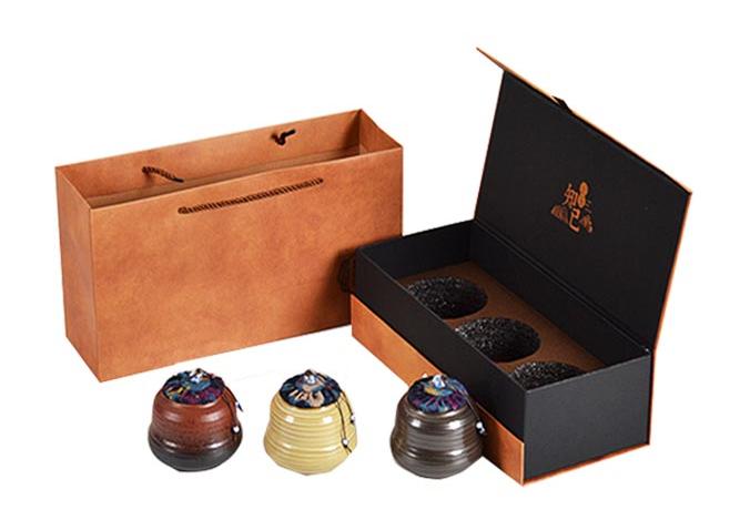 包装纸盒印刷 茶具盒展示
